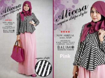 busana hijabers online BALIMO ALICESA Pink
