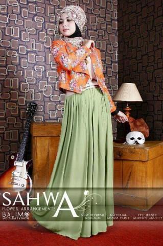 busana batik elegan BALIMO NEW SAHWA  Orange