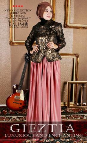 model busana muslim wanita modern busana muslim cantik terbaru Balimo Gieztia no.3 Indian Red
