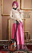busana muslim cantik terbaru Balimo Gieztia no.5 Rossy Pink