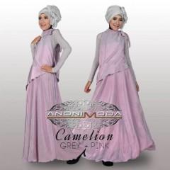 busana indah CAMELION BY ANONIMODA Grey Pink