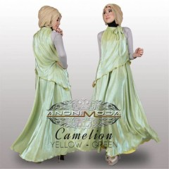 busana hijab modis CAMELION BY ANONIMODA Yellow Green