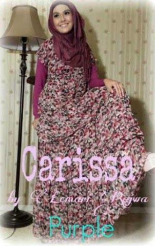 baju gamis hijab CARISSA BY LEMARI RAJWA Purple