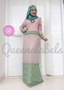 busana gamis pesta terbaru CLONE DRESS by Queena Plum