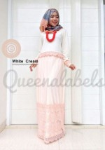 busana elegan CLONE DRESS by Queena White Cream