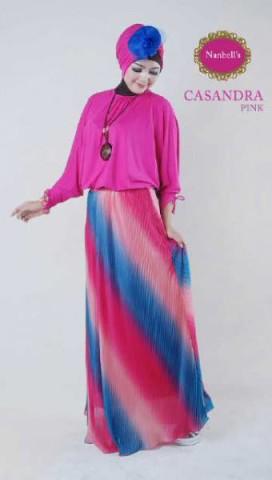 gamis trendy Casandra (New Color) Pink