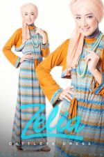 busana muslim indonesia terbaru Cattleya orange