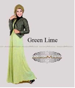 busana wanita terbaru DEENERYS CRINKLE Green Lime
