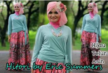 busana hijabers HITORI BY ERIC SUMMER Hijau Telur Asin