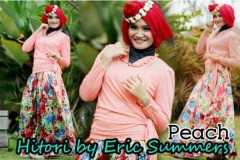busana gamis pesta HITORI BY ERIC SUMMER Peach