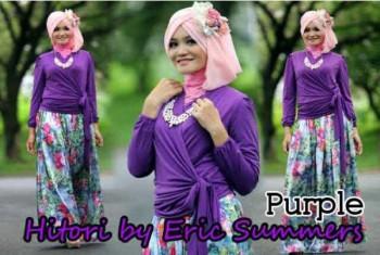 busana indah HITORI BY ERIC SUMMER Purple