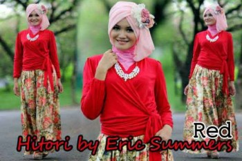 busana hijabers online HITORI BY ERIC SUMMER Red