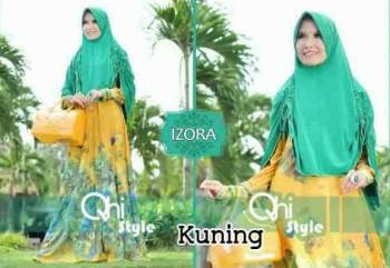 gamis online terbaru IZORA BY QHI STYLE Kuning
