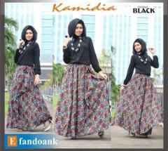 gamis yang terbaru KAMIDIA BY EFANDOANK Black