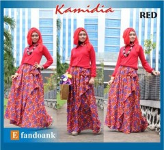 gamis trendy KAMIDIA BY EFANDOANK Red