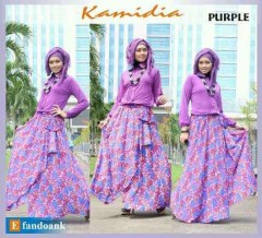 gamis fashion KAMIDIA BY EFANDOANK purple