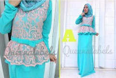 gamis muslimah katun MEDELINE Dress by Queena A