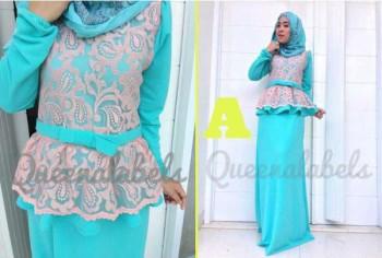 gamis muslimah katun MEDELINE Dress by Queena A