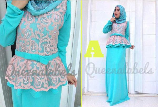 Medeline By Queena A Baju Muslim Gamis Modern