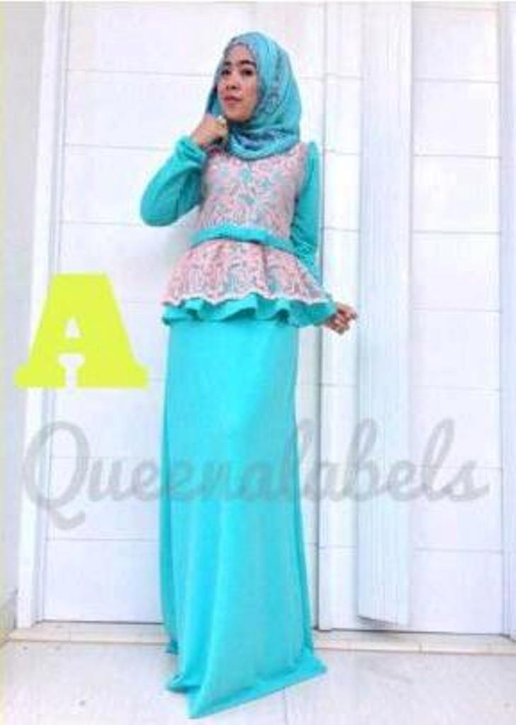 Medeline Dress By Queena A Baju Muslim Gamis Modern