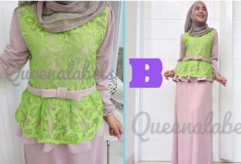 gamis muslimah keren  MEDELINE Dress by Queena B