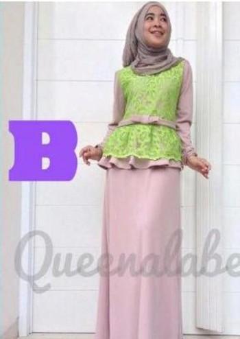 Medeline Dress By Queena B Baju Muslim Gamis Modern