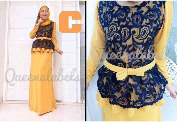 Medeline By Queena C Baju Muslim Gamis Modern