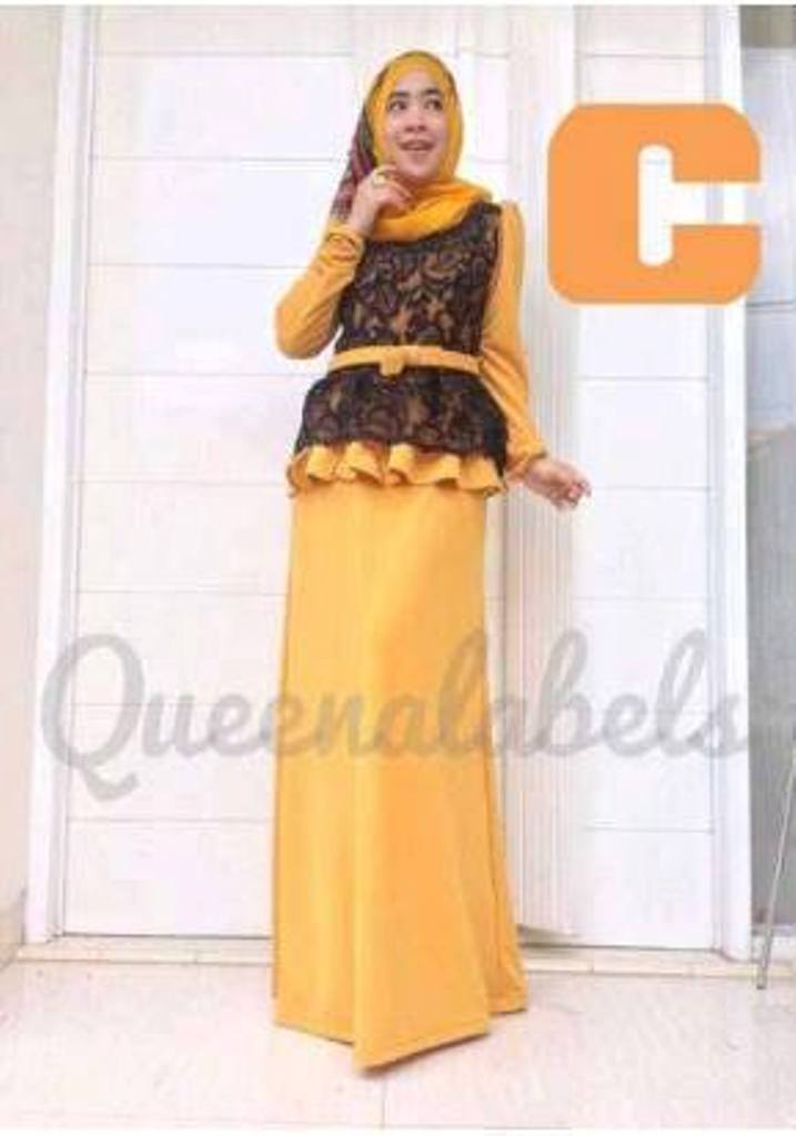 Medeline Dress By Queena C Baju Muslim Gamis Modern
