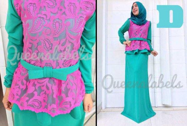 Medeline By Queena D Baju Muslim Gamis Modern