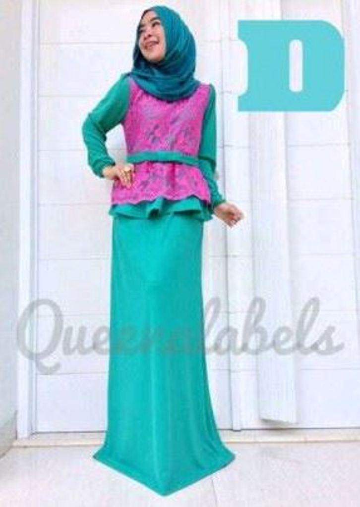 Medeline Dress By Queena D Baju Muslim Gamis Modern