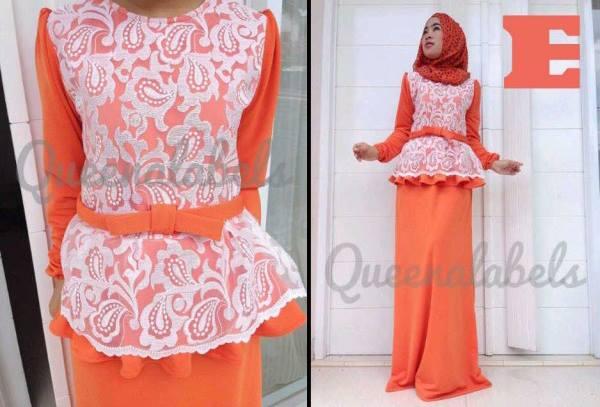 Medeline By Queena E Baju Muslim Gamis Modern