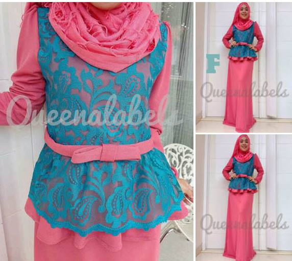 Medeline By Queena F Baju Muslim Gamis Modern