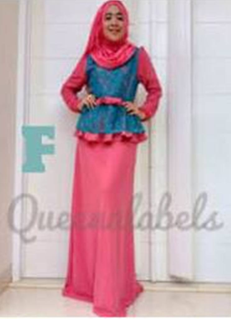 Medeline Dress By Queena F Baju Muslim Gamis Modern