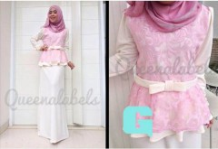 gamis muslim modern murah  MEDELINE Dress by Queena G