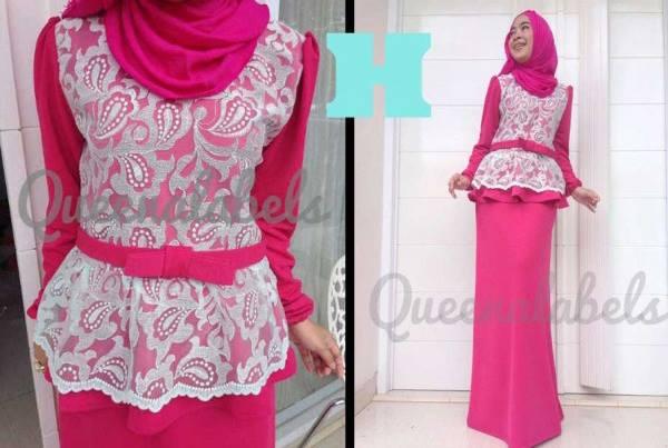 Medeline By Queena H Baju Muslim Gamis Modern