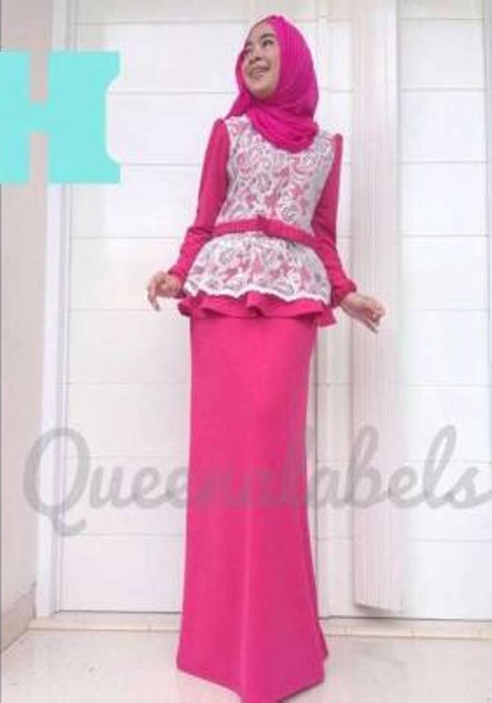 Medeline Dress H Baju Muslim Gamis Modern