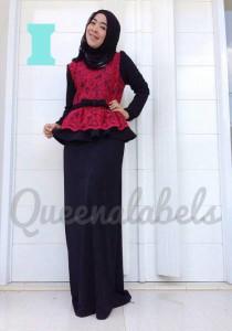 baju gamis wanita muslimah  MEDELINE Dress by Queena I