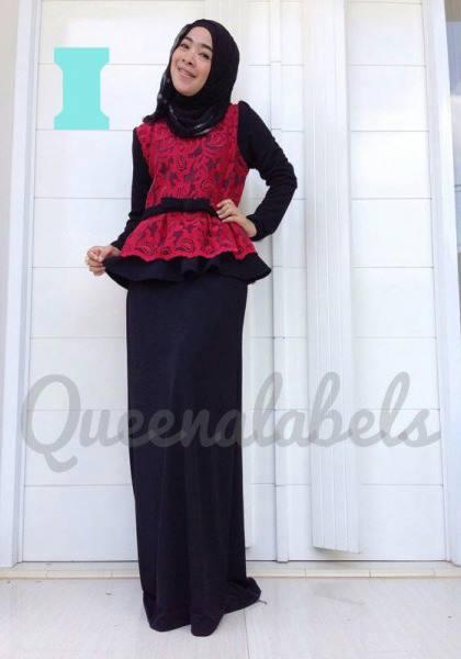 Medeline Dress By Queena I Baju Muslim Gamis Modern