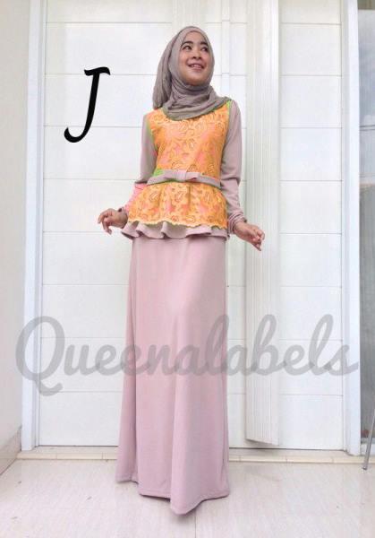 Medeline By Queena J Baju Muslim Gamis Modern