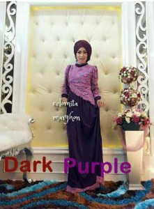 busana hijabers trendy New CELOMITA dark purple