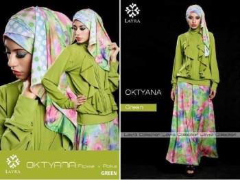 busana muslim modern grosir OKTYANA BY LAYRA Green