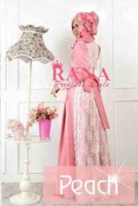 busana pesta muslim modern PATRIANA DRESS BY RANA STYLE Peach