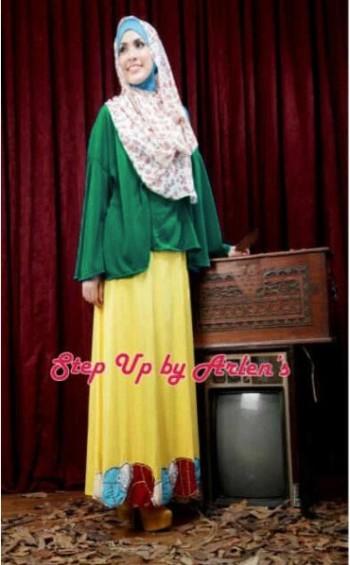 baju muslim elegan wanita  Pusat-Gamis-Terbaru-Step-Up-lovely-tosca