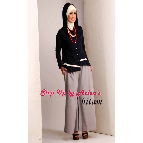 Su Amanda Hitam Baju Muslim Gamis Modern