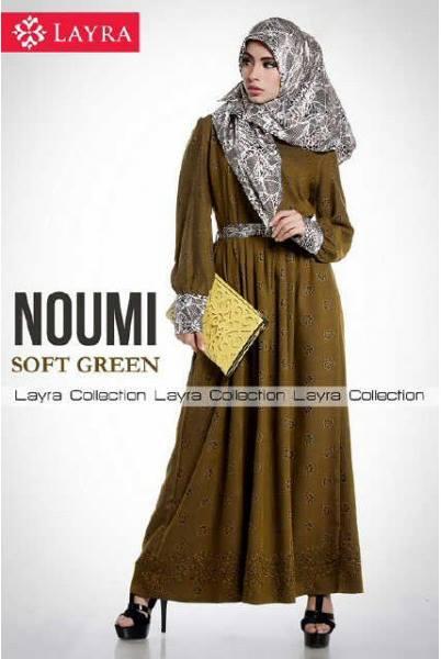 baju muslim terbaru Pusat-Gamis-terbaru-Noumi-by-Layra-Soft-Green