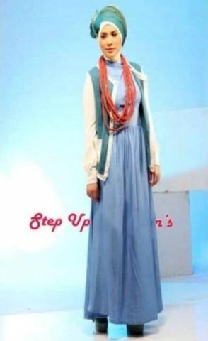 baju muslimah fesyen Pusat-Gamis-terbaru-Step-Up-Candy-Green