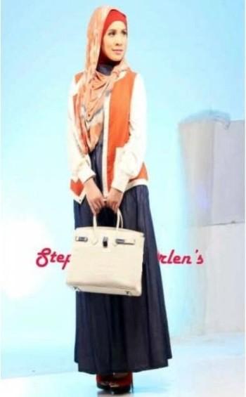 baju muslim modern Pusat-gamis-Terbaru-Step-Up-Candy-Orange