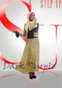 baju muslimah online shopping Pusat-gamis-terbaru-Step-Up-Bella-Dark-Purple