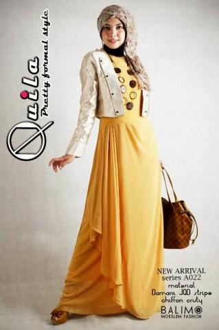 busana wanita terbaru Quila  Kreem yellow