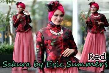busana hijabers terbaru SAKURA BY ERIC SUMMER Red